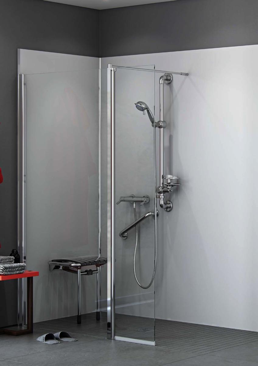 Douche sécurisée pour personnes à mobilité réduite